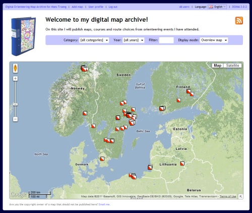 DOMA :: Create your own digital orienteering map archive